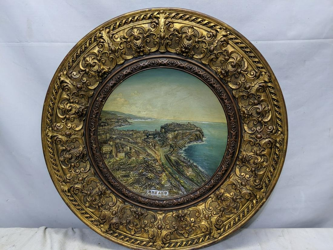 Wilhelm Schiller & Sons Large Majolica Wall Plate
