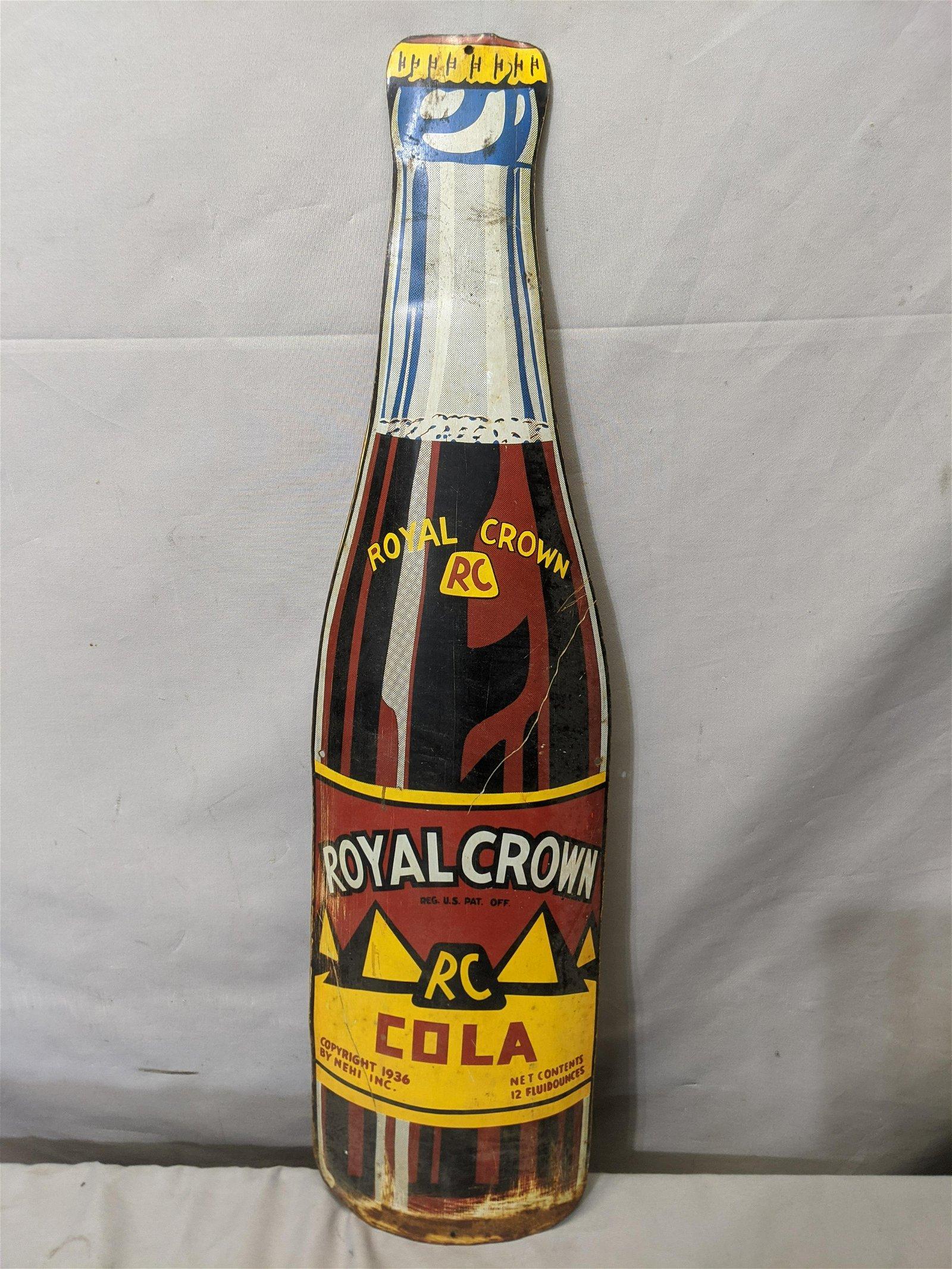1936 RC Royal Crown Cola Metal Wall Sign