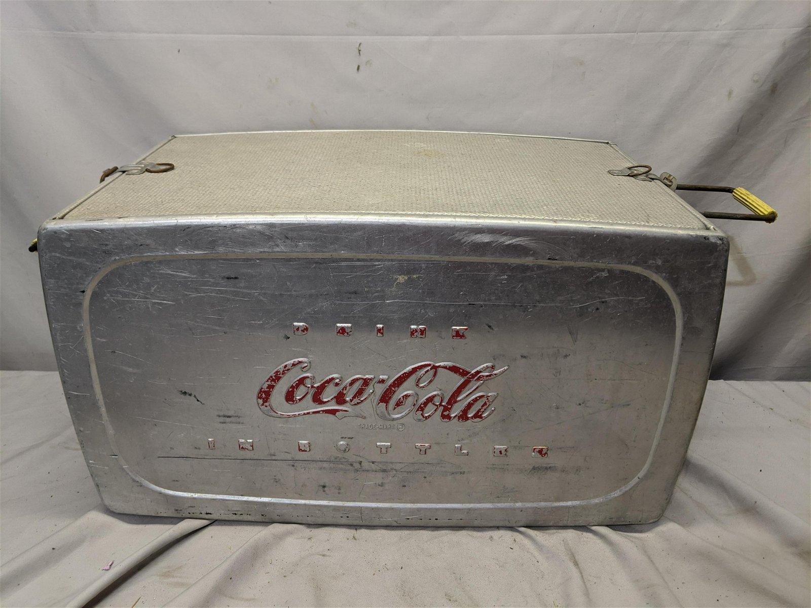 Vintage Large Aluminum Coke Coca-Cola Soda Cooler