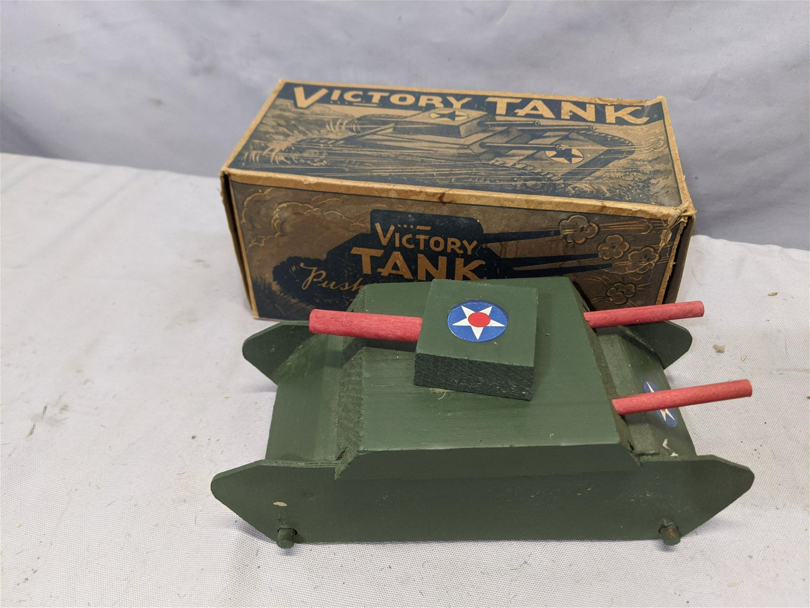 1950's Richard Appel Wood Victory Tank No 80 in Box