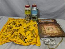 Lot Old Western Toys Roy Rogers Thermos Kit Karson