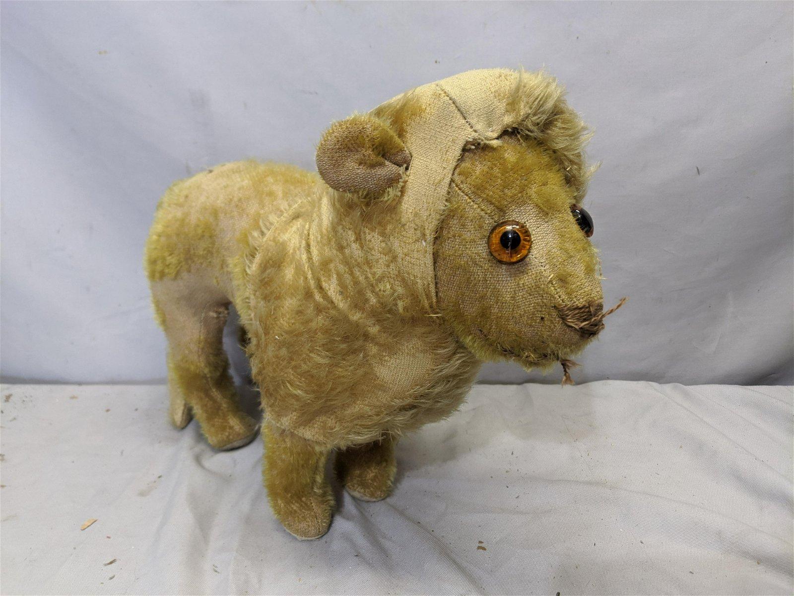 Antique Steiff Straw Stuffed Lion Animal