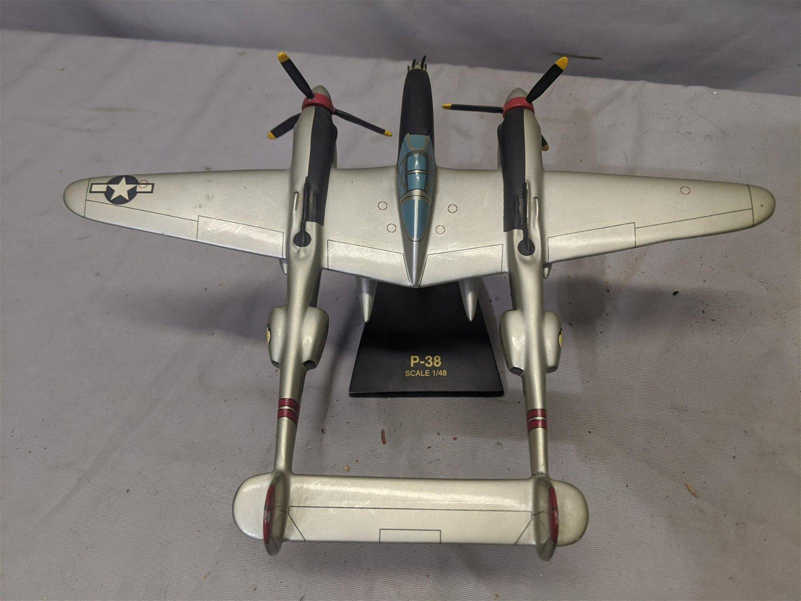 Vintage Toys & Models Corp Wood P38 Lightening Airplane