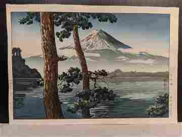 1933 Tsuchiya Koitsu Japanese Woodblock Print Fuji