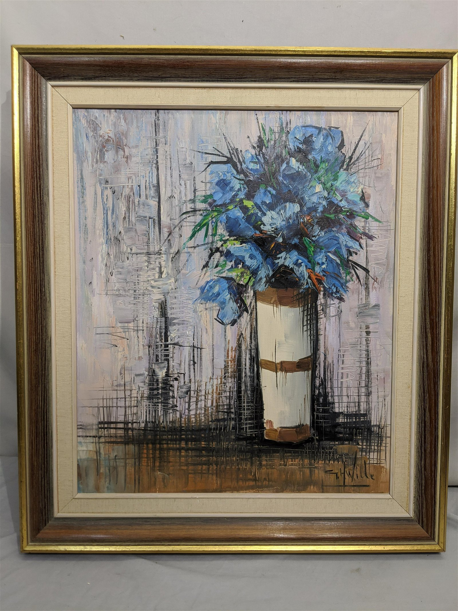 GH Wille Floral Still Life Oil Painting