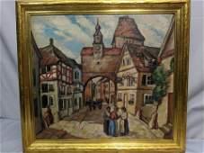 Raymond Stelzner European Street Oil Painting