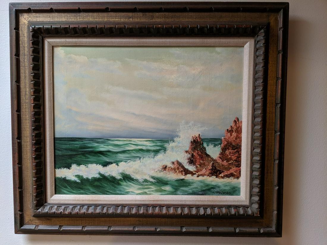 Johan Dijkstra Seascape Oil on Canvas Painting