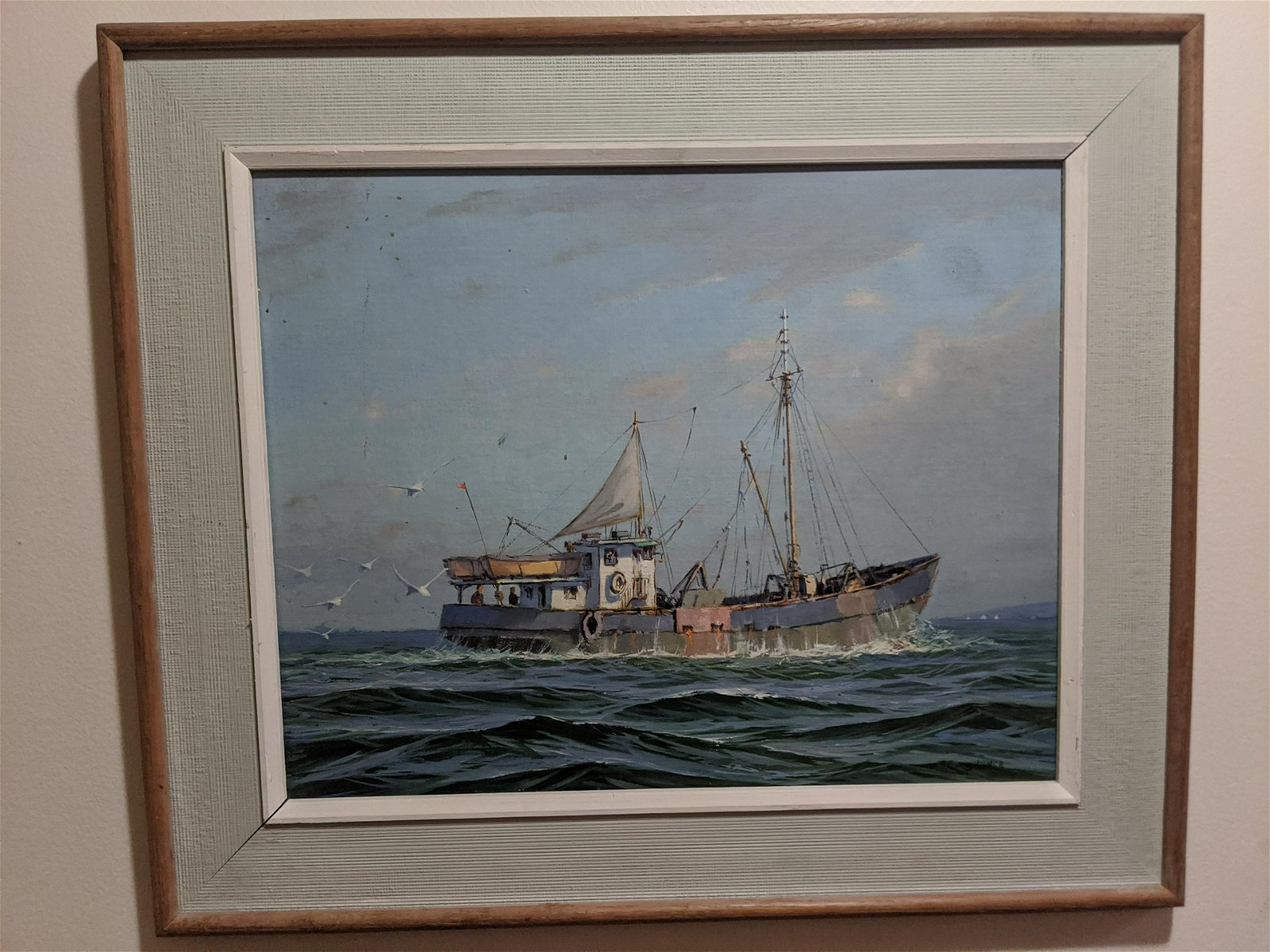 William Goadby Lawrence Fishing Boat Oil Painting