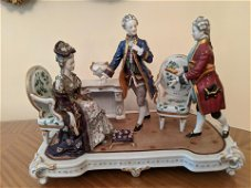 Antique Royal Vienna Large Living Room Grouping