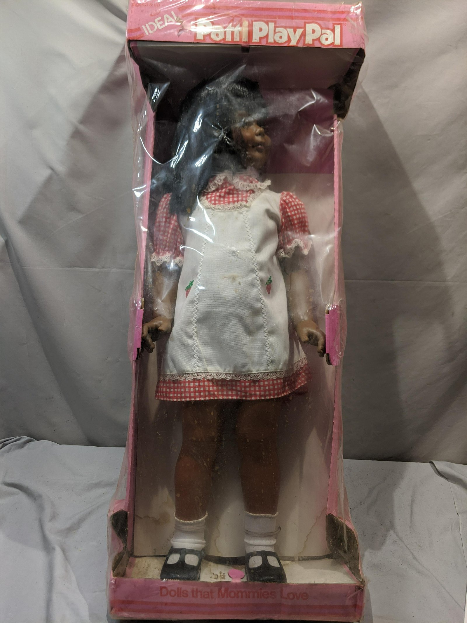 1981 Ideal Patti Play Pal Black Girl Doll in Box