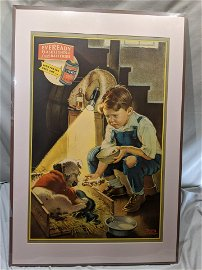 1930s Eveready Framed Poster Tomorrow Only by Anderson