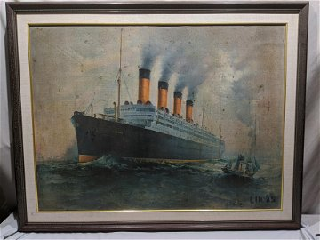 Aquitania Large Framed Print By Lucas of Steamship