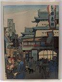 Elizabeth Keith Woodblock Print Outside Chang Man Gate