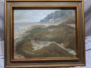 Signed Wehrley Door County WI Beach Oil Painting