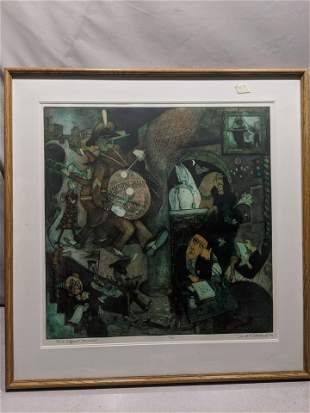 David Driesbach to A Different Drummer Lithograph