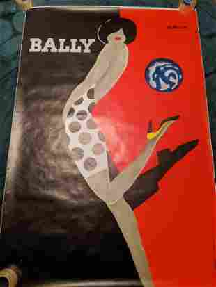 Bernard Villemot A Karchner Bally HUGE French Poster