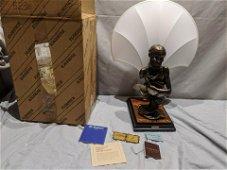 Giuseppe Armani Florence Sculpture Mystery Lamp & Shade