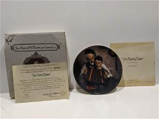 Norman Rockwell Edwin Knowles Music Maker Plate