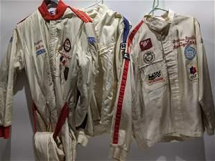 Set 3 Vintage Auto Racer Suits Jacques Grellery