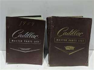 Pair 1958 & 1959 Cadillac Master Parts List Manuals