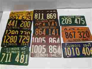 Lot 17 1940's Illinois License Plates
