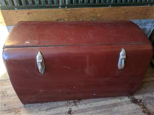 c1940's Rat Rod External Maroon Antique Auto Trunk