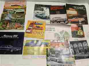Lot 12 American Car Brochures c1960's Jeep GM Ford etc