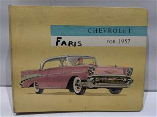 1957 Chevrolet Chevy Showroom Dealer Sales Booklet
