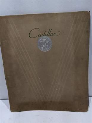 1932 Cadillac Large Showroom Sales Dealer Booklet