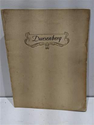 1929 Original Duesenberg Booklet Brochure