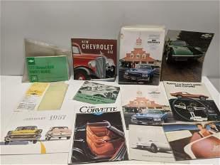 Lot 13+ Assorted General Motors Manuals & Brochures