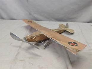 Vintage Mo-Car Metal and Paper Model Airplane