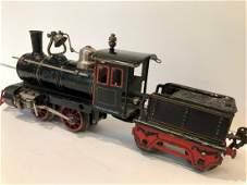 c1910 O Gauge Marklin Clockwork Locomotive & Train Tend