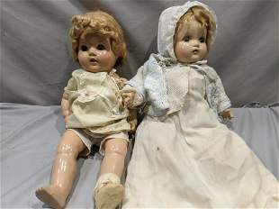 2 Composition Baby Dolls Madame Alexander & Unmarked