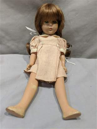 Vintage 14 high Composition Girl Doll