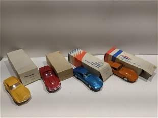 Lot 4 ERTL 1968 69 73 74 Corvette Model Cars NOS