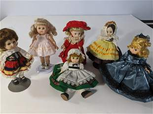 Lot 6 Madame Alexander & Ginny Dolls