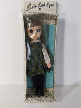 1950's Susie Sad Eyes Vinyl Doll in Box NOS