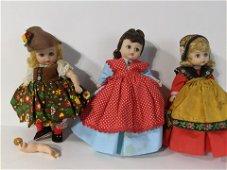 Lot 3 Madame Alexander Kins Dolls Tyrolean Jo Sweden