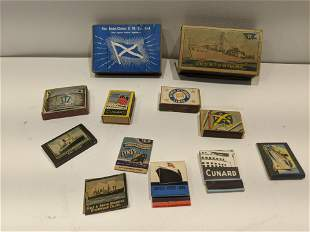 Lot 12  Assorted Steamship Cruise Line Matches Lighter