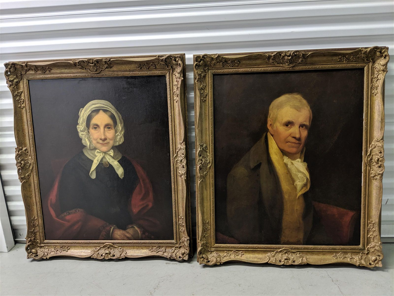 Pair c1850's Mr. & Mrs. Ramsay by Henry Moseley Paintin