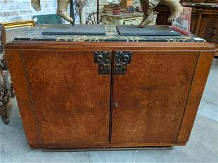 Art Deco French Marble Top Server Buffet