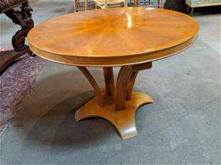 Vintage Mid-Century Modern Bentwood Round Table