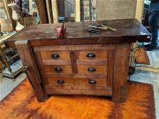 Antique Workbench w/ Drawers in Base