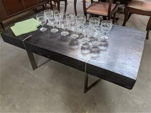 Mid-Century Wood & Metal Coffee Table w/ Drawers