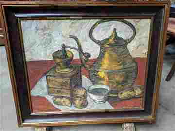 1931 Adriaan Vandewalle Still-Life Oil Painting