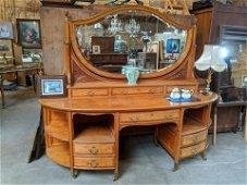 Antique Large Satinwood Vanity Dresser