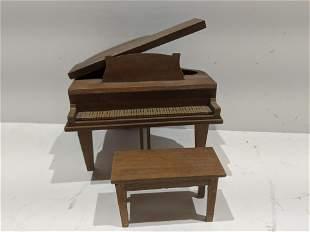 StromBecker Playthings Walnut Grand Piano & Bench