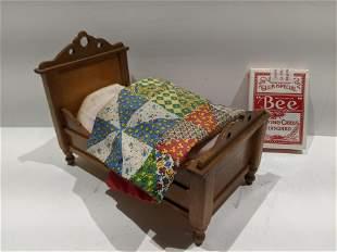 Vintage American Craftsman Maker Signed Wood Bed