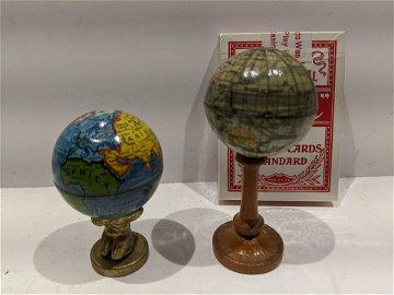 Vintage German Miniature World Globe & Atlas Globe